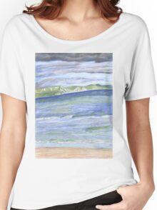 Weymouth Beach- Pencil Women's Relaxed Fit T-Shirt