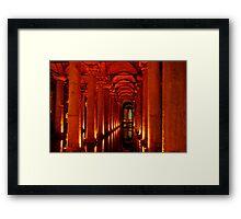 Underground Cistern, Istanbul Framed Print