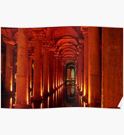 Underground Cistern, Istanbul Poster