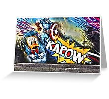 Kapow- street art at Camden Market Greeting Card