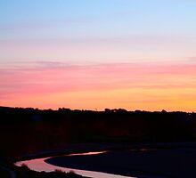Sundown River. by Joe  Barbour