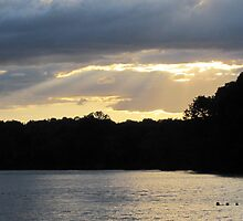 Heavenly Sunset Over the Churchville Reservoir  by Angie Schlauch