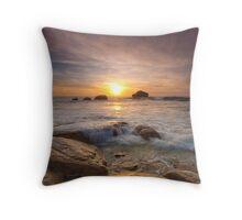 Copper Coast Throw Pillow