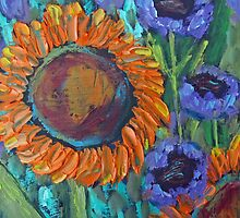 Sunflower and Blues by SpohnStudio