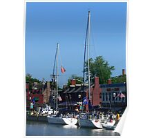 Annapolis City Dock Poster
