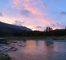 Cowlitz River Sunset by Penny Ward Marcus