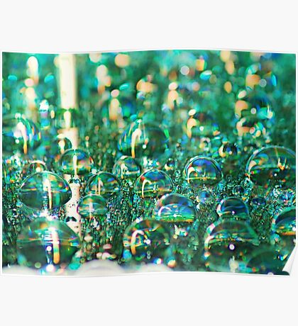 Aqua Drops Poster