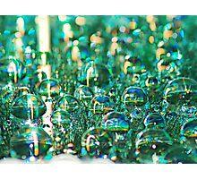Aqua Drops Photographic Print