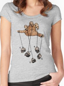 The Five Dancing Skulls Of Doom Women's Fitted Scoop T-Shirt