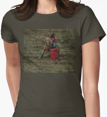 I Dream of Barrel Racing Womens Fitted T-Shirt