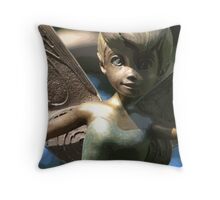 Faith, Trust & Pixie Dust (Color) Throw Pillow