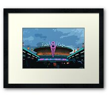 Flo's Cafe Framed Print