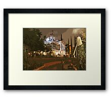 Where The Crypt Doors Creak Framed Print