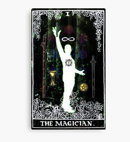 The Magician - a portrait in Tarot  Canvas Print