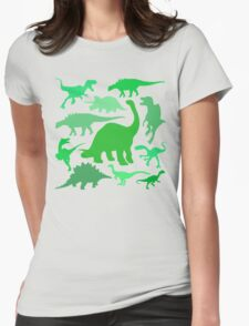 Lots of Dinosaurs! Womens Fitted T-Shirt