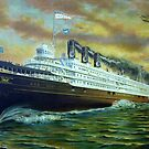 D&C Sidewheel Steamer, City of Detroit III by Stephen D. Miller