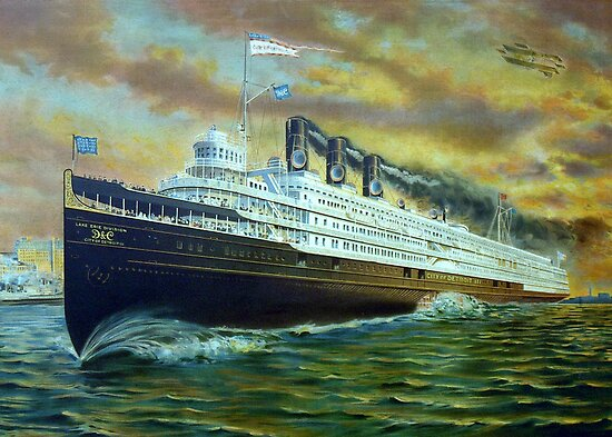 D&C Sidewheel Steamer, City of Detroit III by Stephen D. Miller