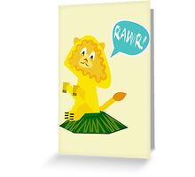 Rawr! Lion Greeting Card