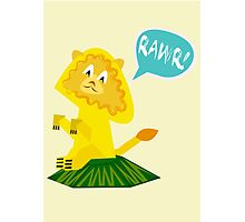 Rawr! Lion Photographic Print