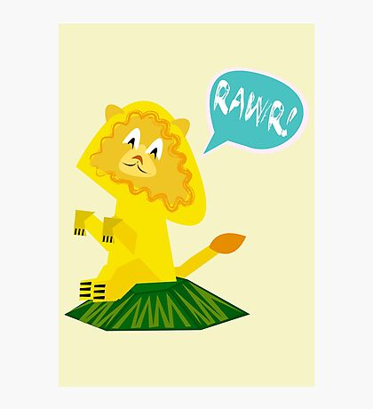 Rawr! Lion Photographic Print