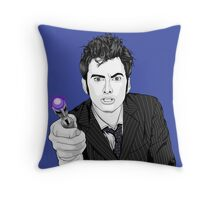 The Tenth Doctor (What??)  Throw Pillow