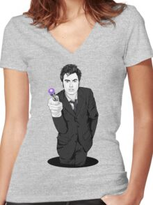 The Tenth Doctor (What??)  Women's Fitted V-Neck T-Shirt