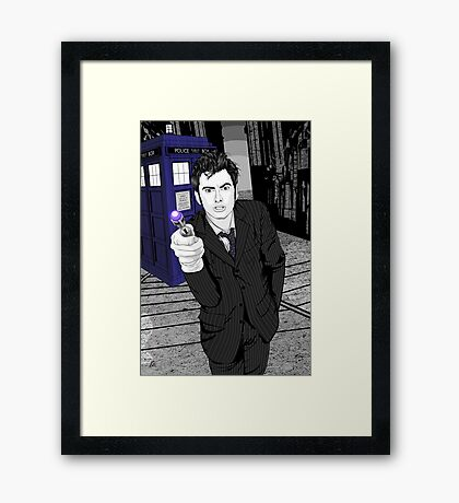 The Tenth Doctor (What??)  Framed Print