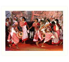 The tribal dance # 2. Art Print