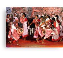 The tribal dance # 2. Canvas Print