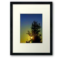 sunrise\sunset. Framed Print