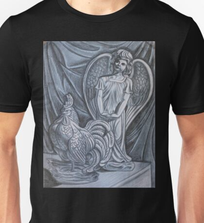 Angel and Rooster Unisex T-Shirt