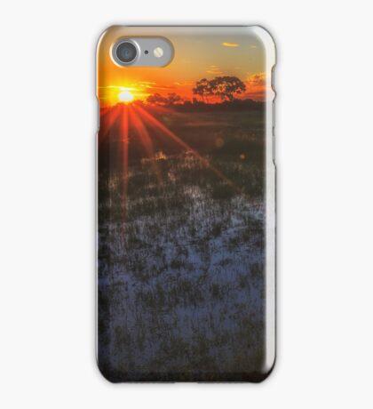 Reflecting on a Duba Plains sunset iPhone Case/Skin