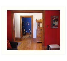 Three Colourful Rooms Art Print