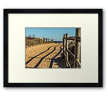 Sandy Footprints Framed Print