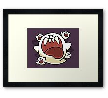 Vintage Super Mario World - Boo Ghost Framed Print