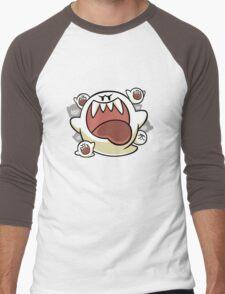 Vintage Super Mario World - Boo Ghost Men's Baseball ¾ T-Shirt