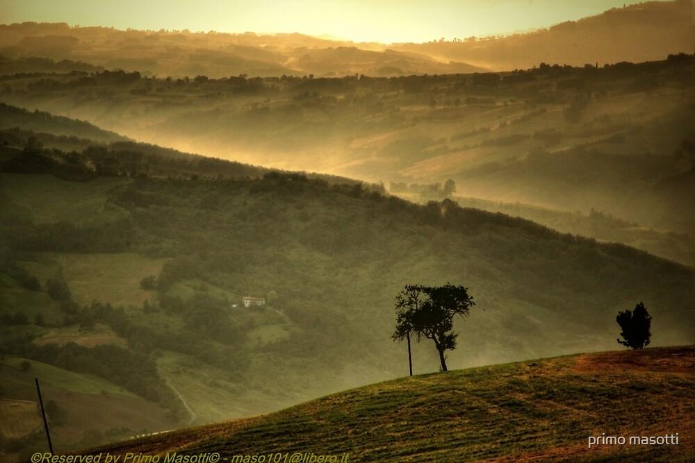 Tramonto con nebbia a Gainazzo - ( Guiglia Modena Italy ) by primo masotti