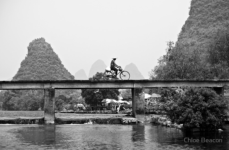 A Man and his Bicycle by Chloe Beacon