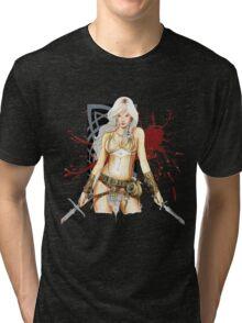 The Barbarian Girl Lagertha Tri-blend T-Shirt