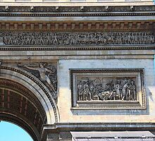 Arc de Triomphe detail by Louise Fahy