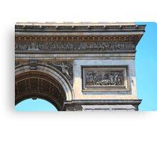 Arc de Triomphe detail Canvas Print