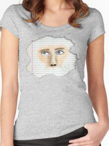 Watercolor Face Women's Fitted Scoop T-Shirt