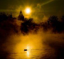 Misty Lake by Béla Török