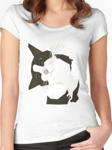 Hello Cat Women's Fitted Scoop T-Shirt