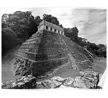 Temple of the Inscriptions - B&W Poster