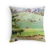 House on a hill - Arthurs Creek Throw Pillow