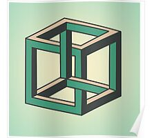 Impossible Optical Illusion Cube Poster