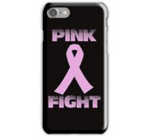 pink fight breast cancer iPhone Case/Skin