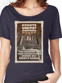 Robots Unite Women's Relaxed Fit T-Shirt