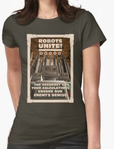 Robots Unite Womens Fitted T-Shirt